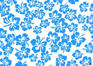 Blue hiscus pattern