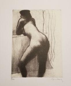 woman with window