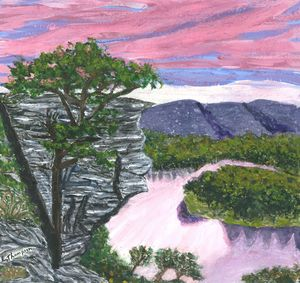 Calico Rock, the Ozarks USA - Fine Art by Loraine Allison Thompson