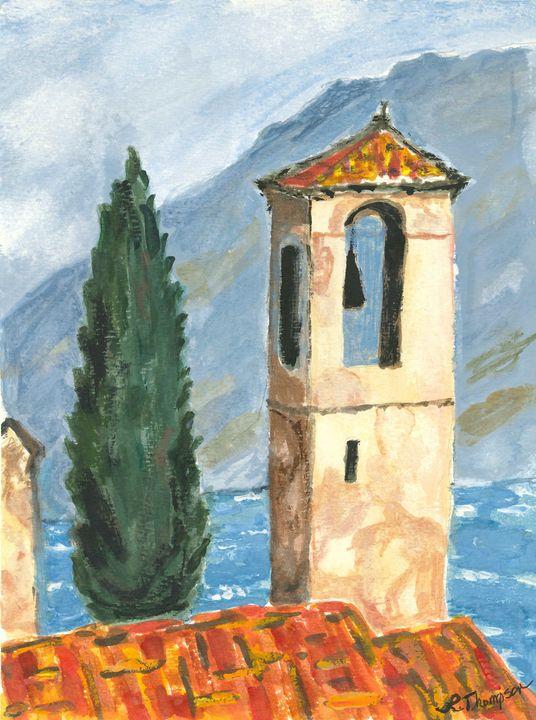 Bell Tower/ Limone/ Lake Garda,Italy - Fine Art by Loraine Allison Thompson