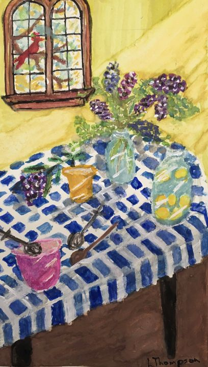 Sunny Kitchen Back Home - Fine Art by Loraine Allison Thompson