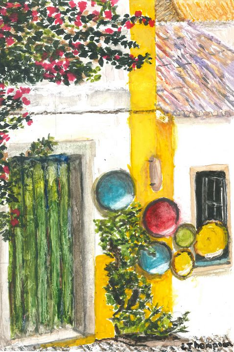Cobblestone Lane toward Home - Fine Art by Loraine Allison Thompson