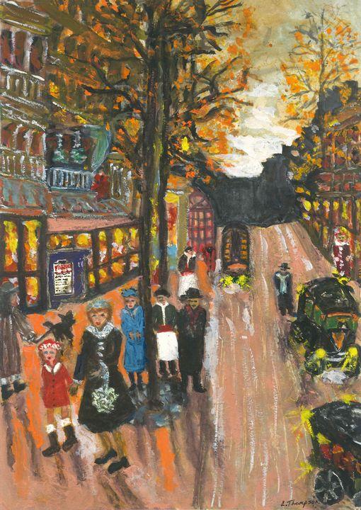 Frenchy's Café since 1897 - Fine Art by Loraine Allison Thompson