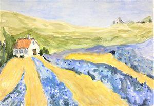 Lavender Fields - Fine Art by Loraine Allison Thompson