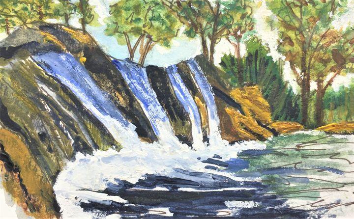 The Waterfall - Fine Art by Loraine Allison Thompson