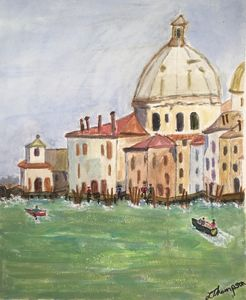 the Grand Lagoon Venice - Fine Art by Loraine Allison Thompson