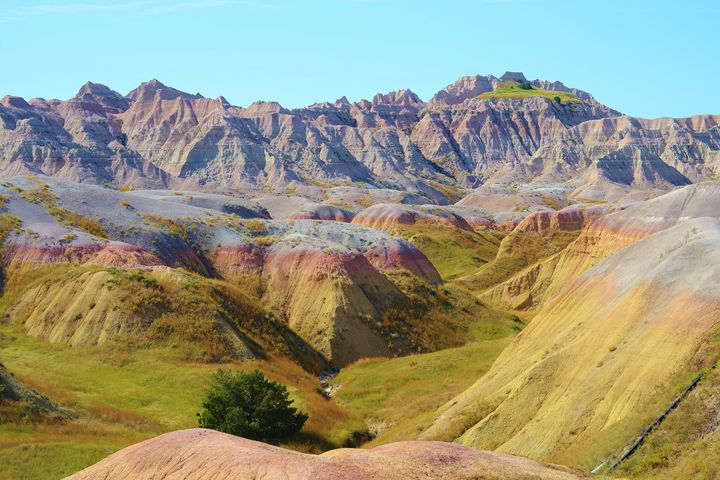 Yellow Mounds in the Badlands - 56th Street Photo