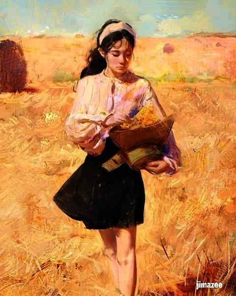 Beautiful young girl - JIMAZEE ART
