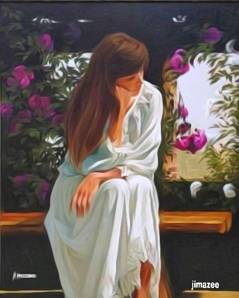 Lonely woman - JIMAZEE ART