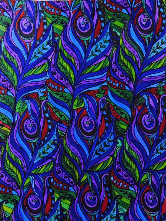 Peacock Feathers - Mistyck Moon's Turmoil Of The Mind
