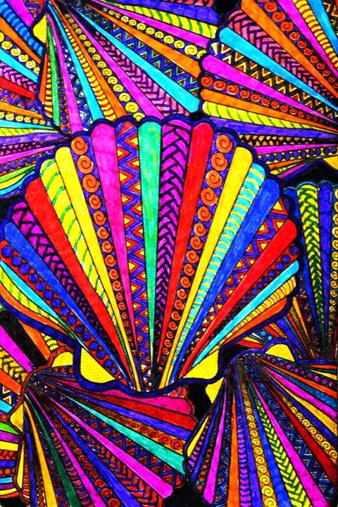Colorful Seashells - Mistyck Moon's Turmoil Of The Mind