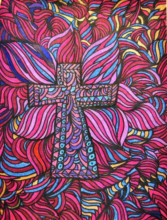 Colorful Crucifix - Mistyck Moon's Turmoil Of The Mind