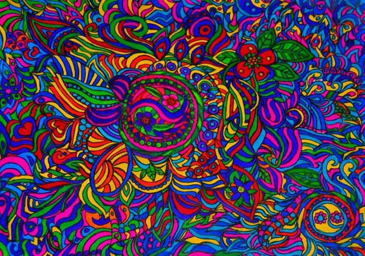 Hippie Abstract - Mistyck Moon's Turmoil Of The Mind