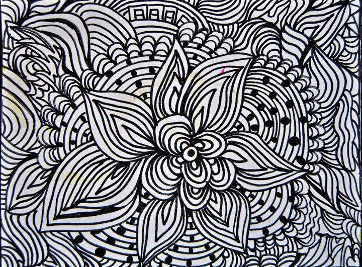Abstract Floral Pattern - Mistyck Moon's Turmoil Of The Mind