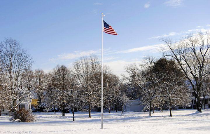 Winter Wonderland Flag - Mistyck Moon's Turmoil Of The Mind