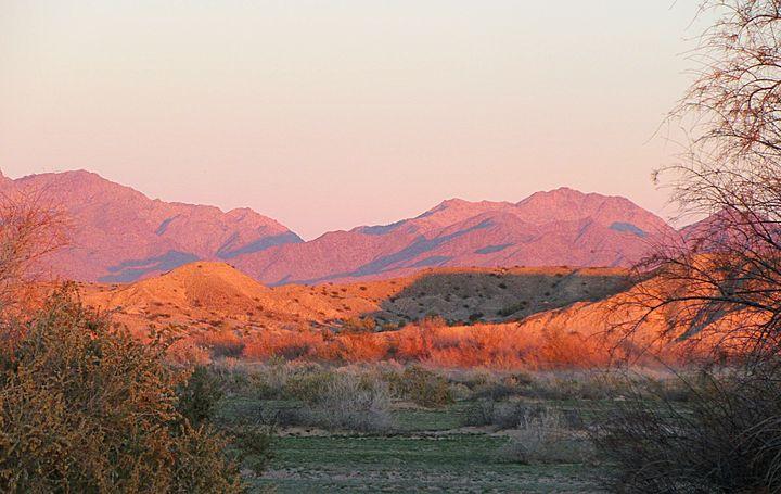 Desert Mountains At Sunset - Mistyck Moon's Turmoil Of The Mind