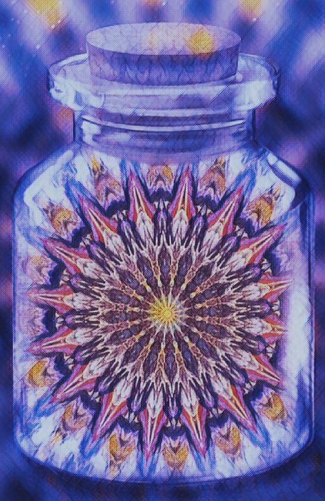 Kaleidoscope Jar - Mistyck Moon's Turmoil Of The Mind