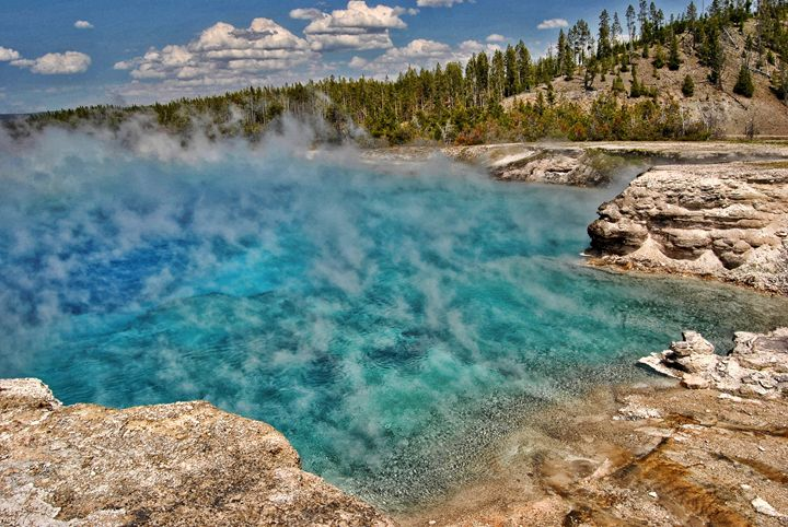 Yellowstone Hot Spring - Mistyck Moon's Turmoil Of The Mind