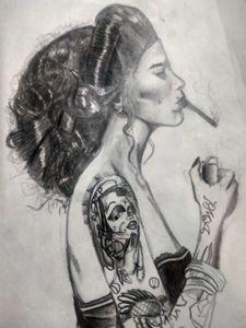 Smoking Beauty