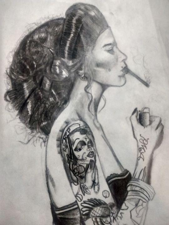Smoking Beauty - Armando Herrera