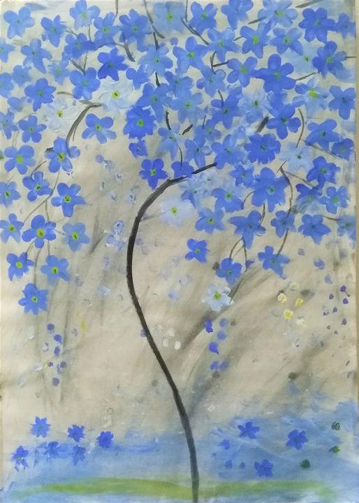 flower painting - water painting - Poonam kesarkar