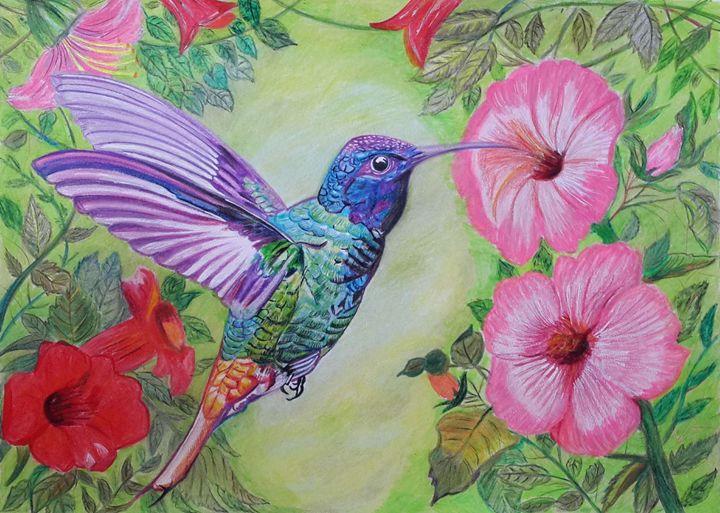 Hummingbird Painting - Vaibhav Salvi