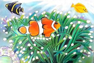 Clown Fish & Yellow Tang Painting