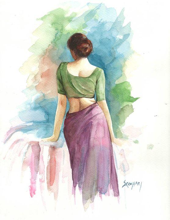 thinking lady - ShreehariManakkal
