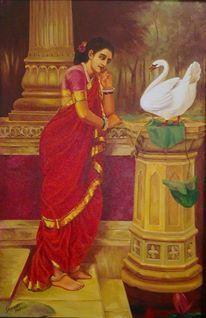 Damayanti and the swan-messenger - ShreehariManakkal