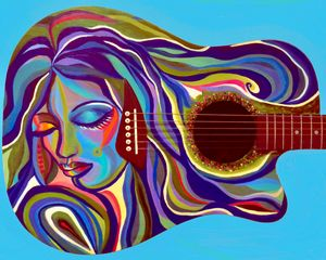 Blue Lady guitar - Carrie Chaplin