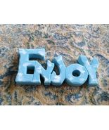 "Wooden ""ENJOY"" Sign Freestanding"