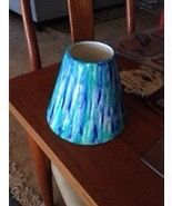 beautiful turquoise ceramic vase 6""