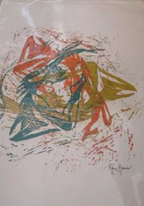 dancers silkscreen artists print