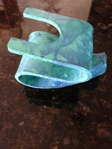 Napkin / Note Holder Turquoise Toned