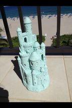 Turquoise Toned Sandcastle - beach decor treasures