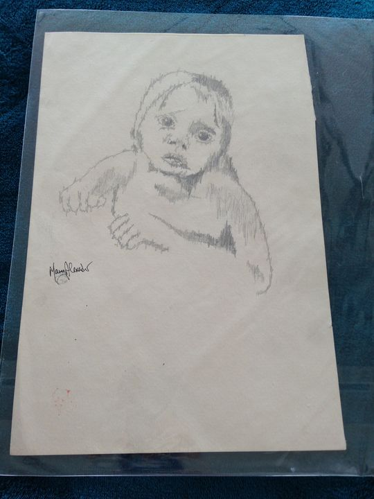 a child's love drawing signed - beach decor treasures
