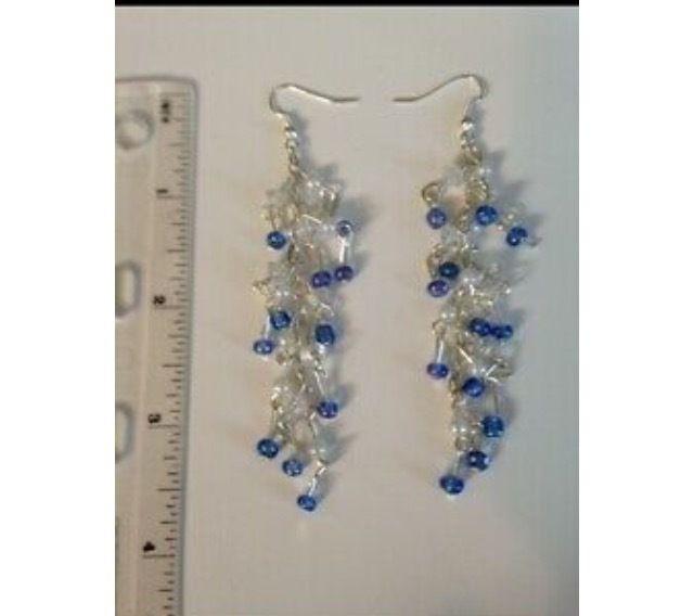 cascading beaded pierced earrings - beach decor treasures