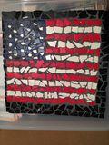 """ceramic flag mosaic 12"""" x 12"""""""
