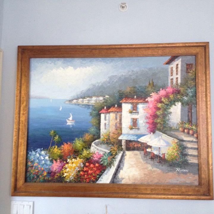 Mediterranean painting by Rossini ap - beach decor treasures