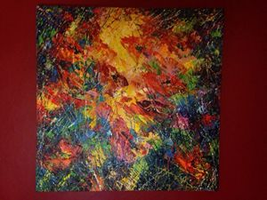 """Abstract art """"Red Papavers"""""""