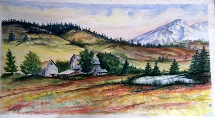 Mountain Valley #2 - Richard Benson's Watercolors