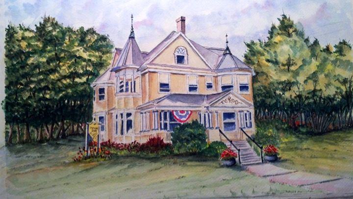 Monroe Inn -SOLD - Richard Benson's Watercolors