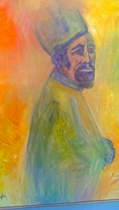 The Monk SOLD - Richard Benson's Watercolors