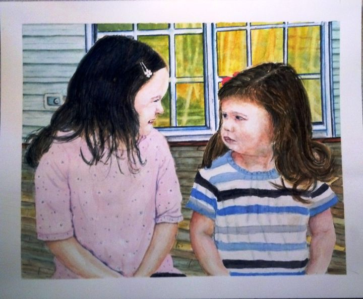 TWO SISTERS SOLD - Richard Benson's Watercolors