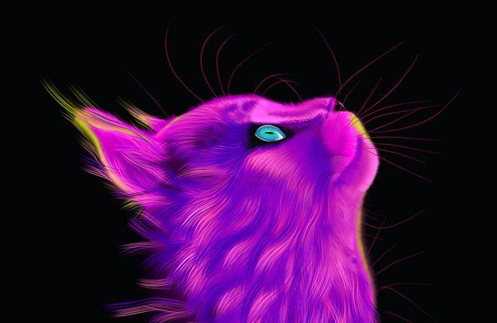 Look up - Cat Print - Digital Dawg & Friends