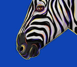 Zebra, Pop Art, animal art print