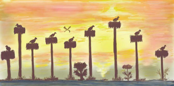 Birds on the trees - Monvis