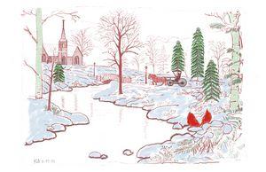 Christmas landscape scenery - Monvis