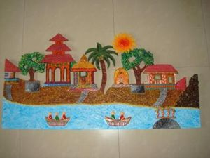A Village by the River : Mural
