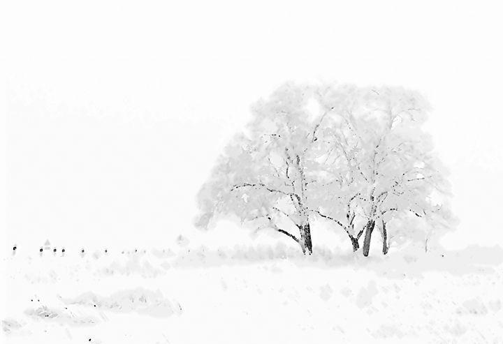 Winter Wonderland Landscape Art - Rogue Art